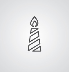candle outline symbol dark on white background vector image