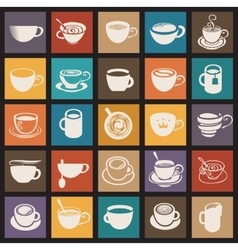 Coffee cup and Tea cup vector image vector image