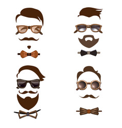 hipster outfit combinations set vector image vector image