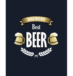 Retro beer emblem or banner vector image vector image