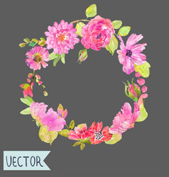 watercolor beautiful floral design vector image vector image