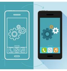 app development concept in flat style vector image