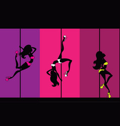 exotic pole dance vector image vector image