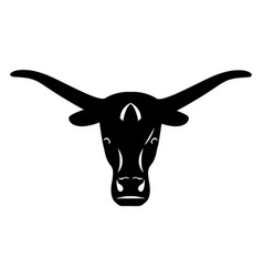 logo head of a bull icon buffalo vector image
