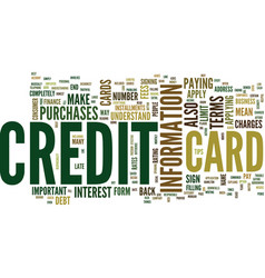 the most effective way to apply for a credit card vector image