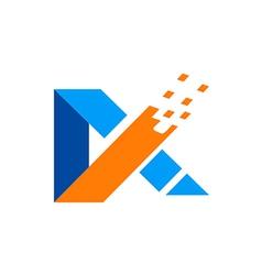 abstract A technology logo vector image