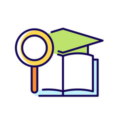 Academic research talent rgb color icon vector