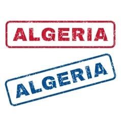 Algeria Rubber Stamps vector