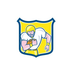 American Football Fullback Shield Retro vector image