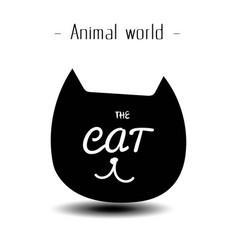 animal world the cat smile background image vector image