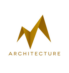 architecture logo design roof shape isolated vector image