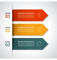 Arrow infographic design template vector