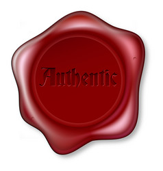 authentic red wax seal vector image