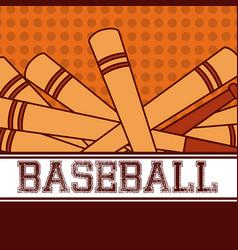 Baseball sport bats vector