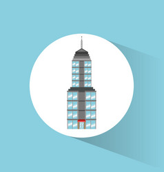 Building landmark travel icon vector