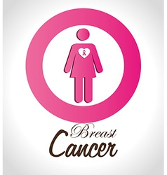 Cancer design over white background vector image