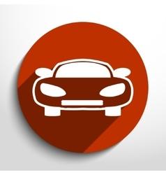 car web icon vector image