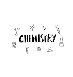 chemistry doodle objects set illistration vector image
