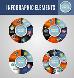 circle infographics set 3 vector image