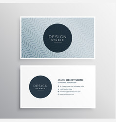 clean creative business card template vector image