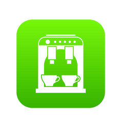coffee machine icon digital green vector image