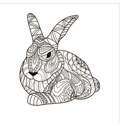 coloring coloring page bunny rabbit rodent vector image