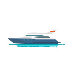 cute pattern of speed yacht vector image