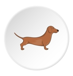 Dachshund dog icon cartoon style vector image