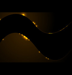 Dark orange shiny corporate wavy background vector
