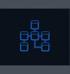 Database sign icon relational database schema vector