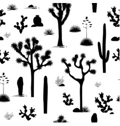 desert seamless pattern with desert plants vector image