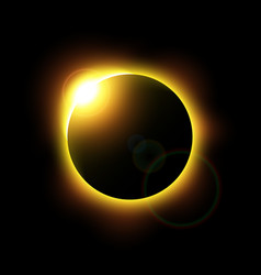 eclipse of the sun and flare vector image