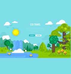 Eco travel concept vector