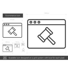 Ecommerce line icon vector