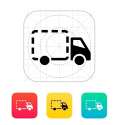 Empty delivery truck icon vector image