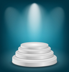 Empty white podium with light vector image