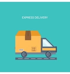 Flat background Delivery packaging Shipping vector image