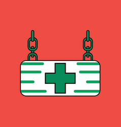 Flat icon design collection medical sign vector