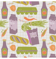 food vintage wallpaper vector image