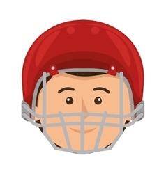Football american helmet icon vector