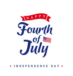 fourth july independence day vintage card vector image