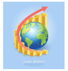 global business concept background gold coin vector image