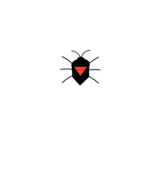 graphic silhouette a bug icon vector image
