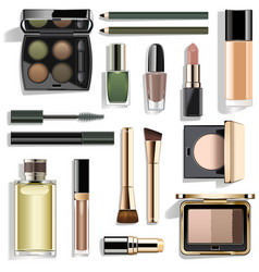 green makeup collection vector image