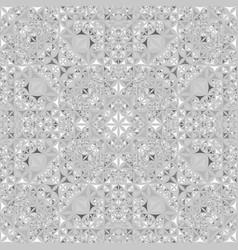 Grey repeating kaleidoscope pattern background vector