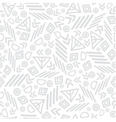 grey tribal abstract seamless repeat pattern vector image