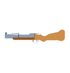 gun launcher grenade rifle icon pistol shotgun vector image