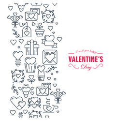 happy valentines day decorative doodle card vector image