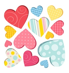 Hearts isolated vector image