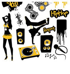 Hip hop design elements vector